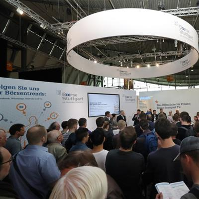 Invest Stuttgart - exhibition booth stock exchange