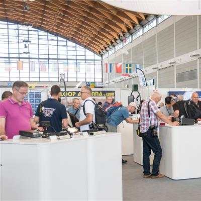 Internationale Amateurfunk-Ausstellung - Messestand ICOM