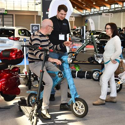 Exhibition for Sustainable Mobility - faltable scooter