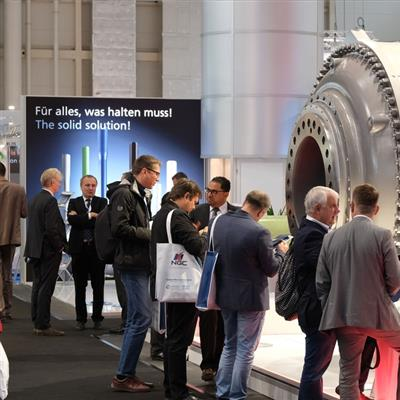 WindEnergy Hamburg - visitors at a fair